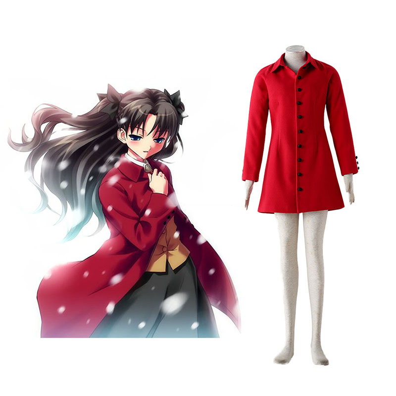 Déguisement Cosplay The Holy Grail War Tohsaka Rin 4 Rouge Boutique de France