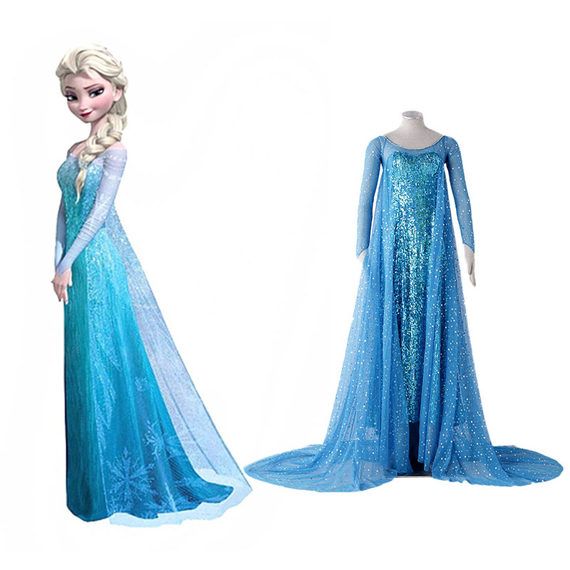 Déguisement Cosplay Frozen Elsa 1 Blue Boutique de France