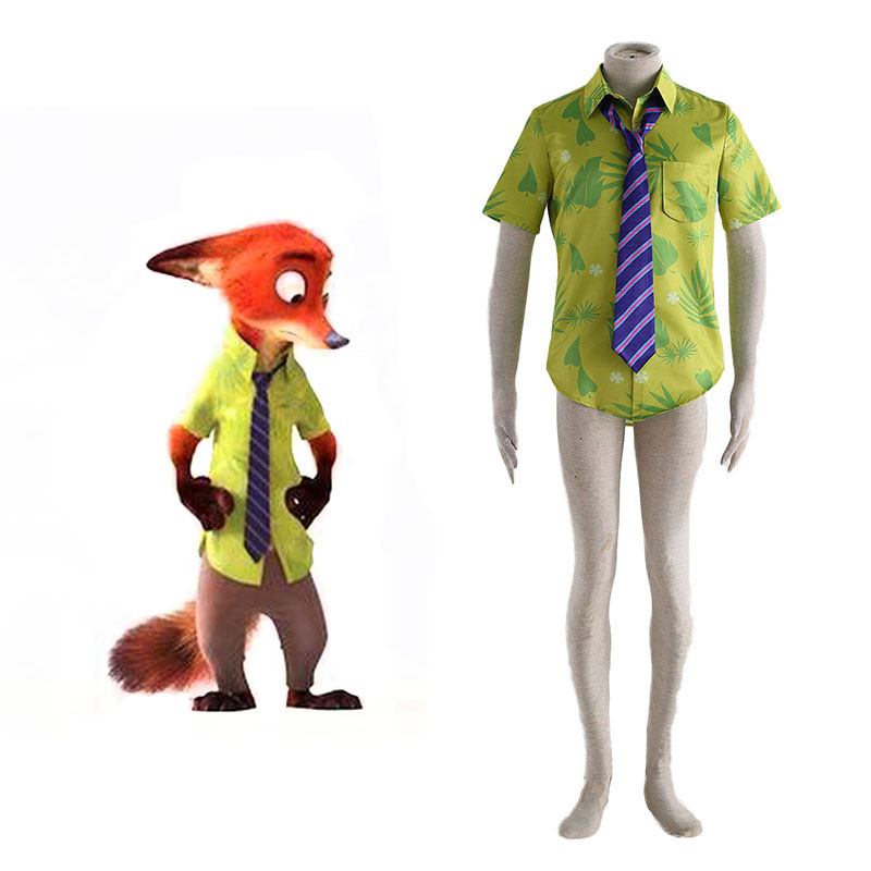 Déguisement Cosplay Zootopia Nick Shirt Boutique de France