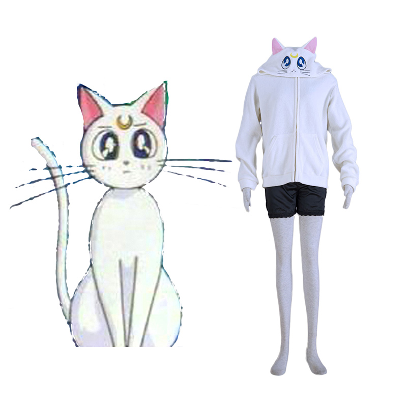Déguisement Cosplay Sailor Moon Blanc Cat Artemis Boutique de France