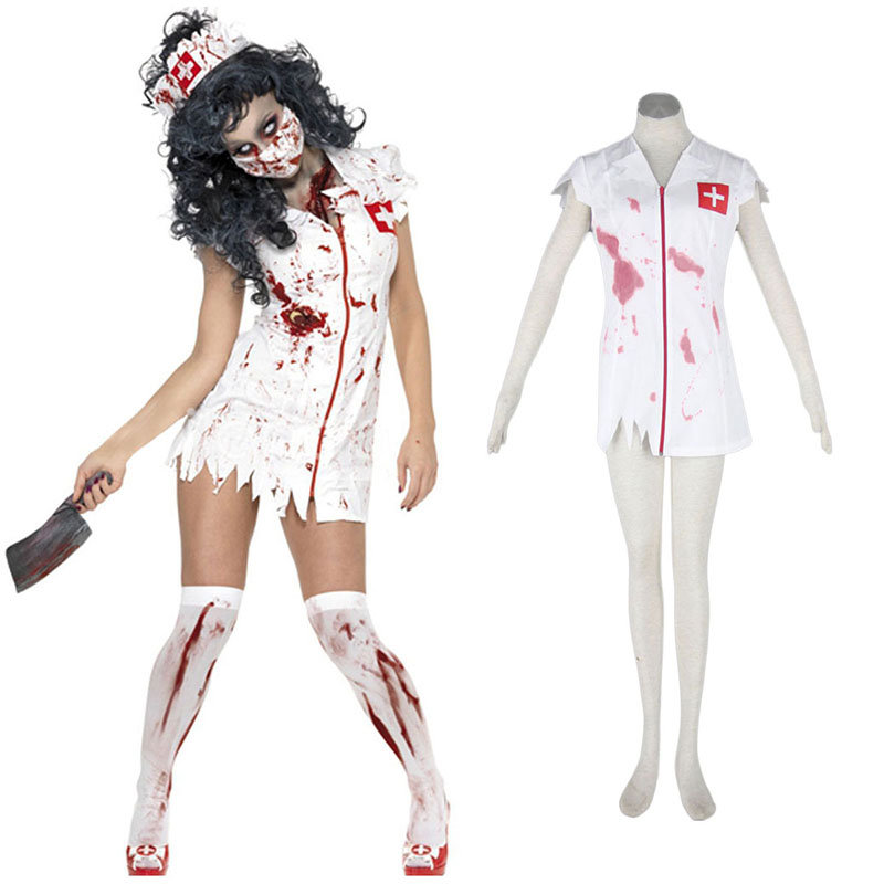 Déguisement Cosplay Halloween Culture Zombie Burst Blood Nurses 1 Boutique de France