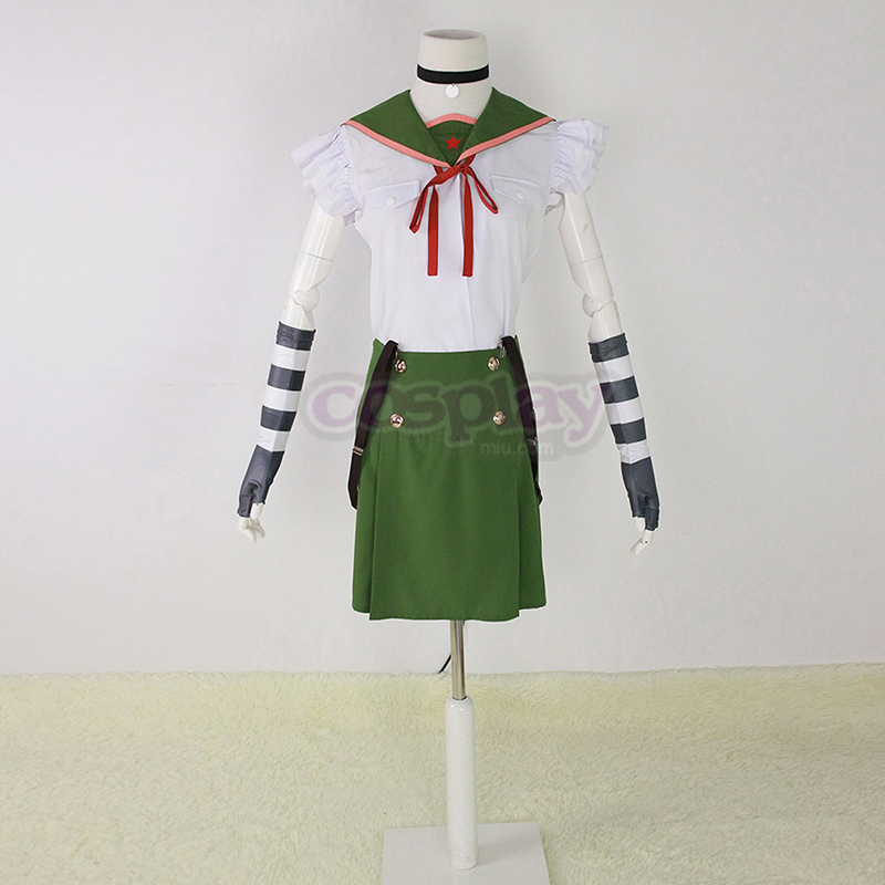 Déguisement Cosplay School-Live! Ebisuzawa Kurumi 1 Green Sailor Boutique de France