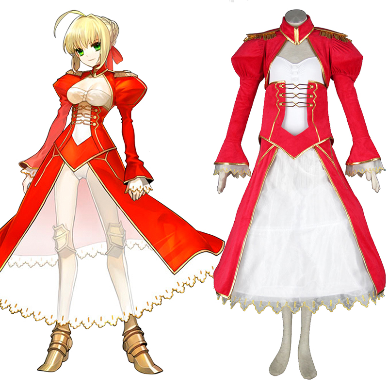 Déguisement Cosplay The Holy Grail War Saber 2 Rouge Boutique de France