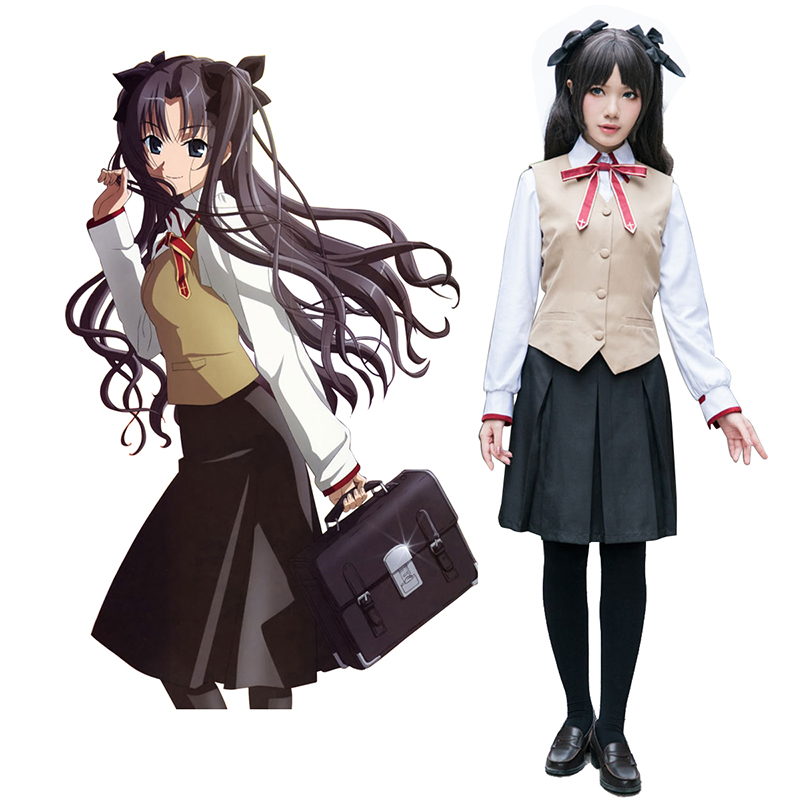 Déguisement Cosplay The Holy Grail War Tohsaka Rin 3 Uniforme scolaire Boutique de France