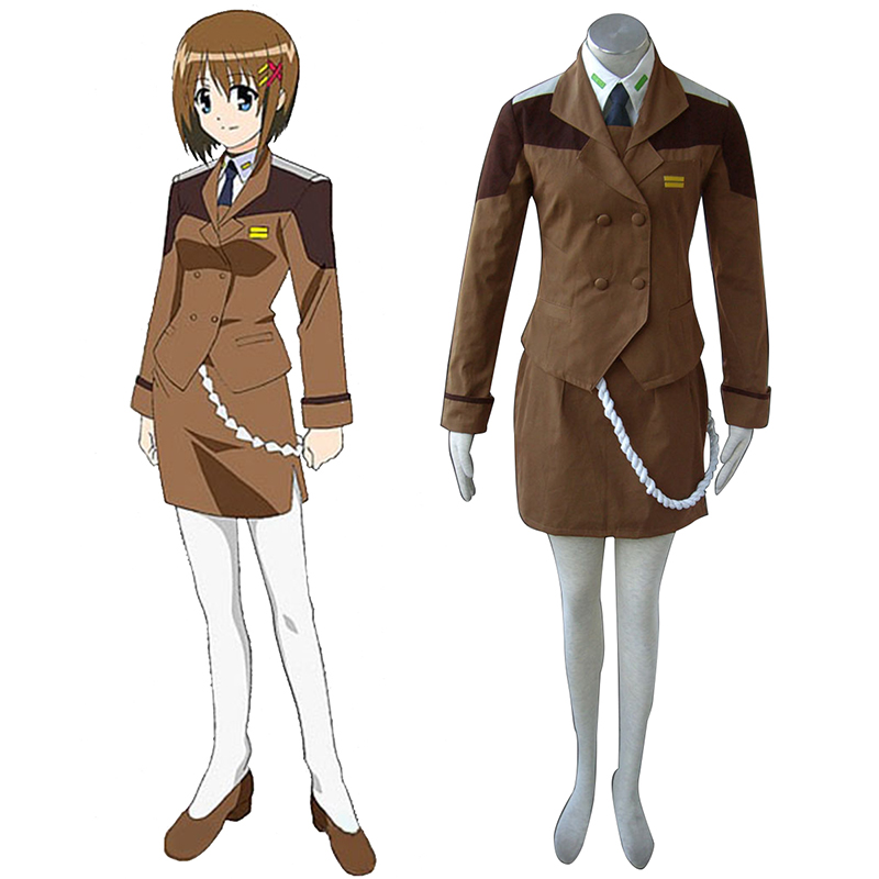 Déguisement Cosplay Magical Girl Lyrical Nanoha Female Military Uniform Boutique de France