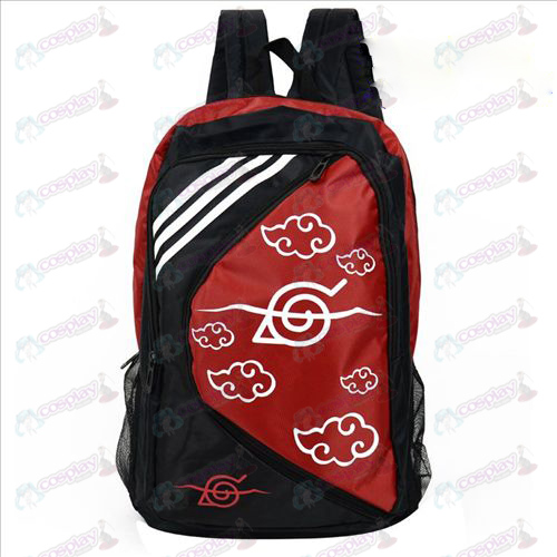 1225 Naruto Backpack Red Cloud