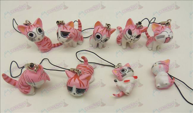 9 Accessoires Sweet Cat Toy Strap Machine (rose)