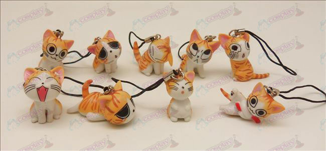 9 Accessoires Sweet Cat machine Strap (Orange)