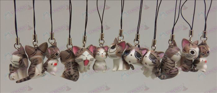 12 Accessoires Sweet Cat Toy Strap Machine (Gris)