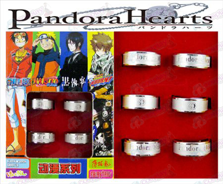 Pandora givré Ring (6 / set)