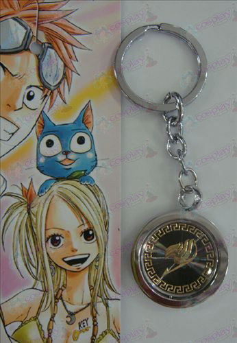 Black Steel Keychain Accessoires Fairy Tail or