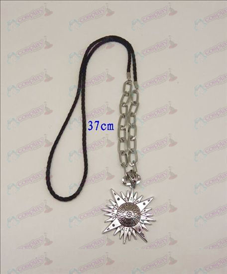 DAccessoires D.Gray-man logo punk, long collier (argent)