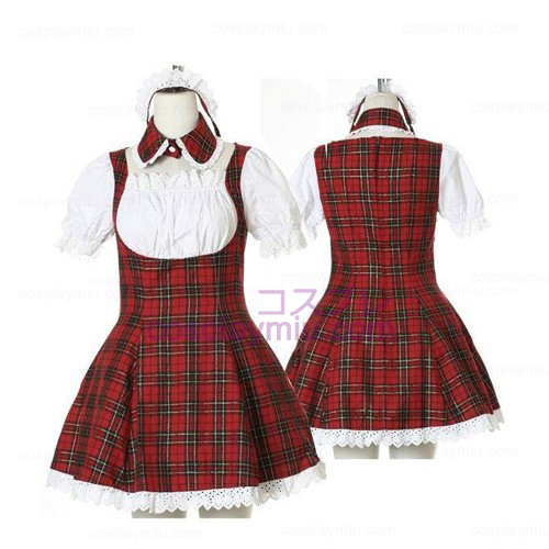 Sweet Red Plaid Maid Cosplay Lolita Déguisements Cosplay