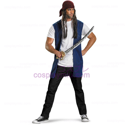 Pirates Of The Caribbean - Captain Jack Sparrow Adult Déguisements Kit