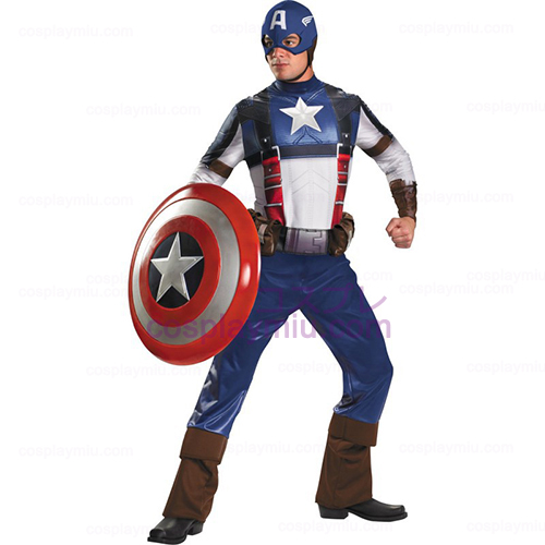 Captain America Movie - Captain America Deluxe Adult Déguisements