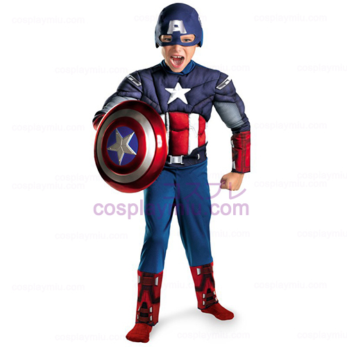The Avengers Captain America Classic Muscle Chest Child Déguisements