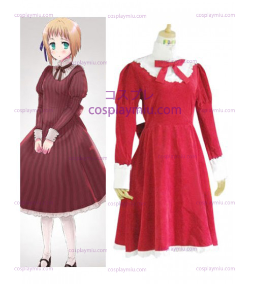 Axis Powers Liechtenstein Red Déguisements Cosplay