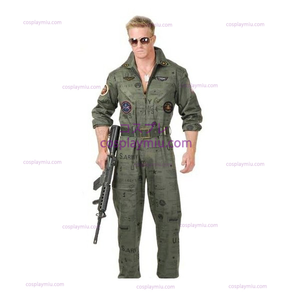 Top Gun Air Force Army Flight Suit Déguisements Halloween
