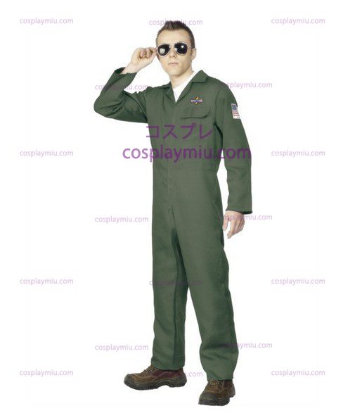 Adult Hommess Aviator Topgun Pilot Fancy Dress Déguisements