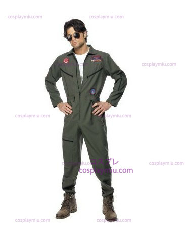Top Gun Déguisements with Green Jumpsuit