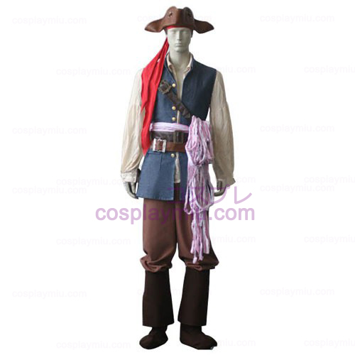 Pirates of the Caribbean Captain Jack Sparrow Déguisements Cosplay