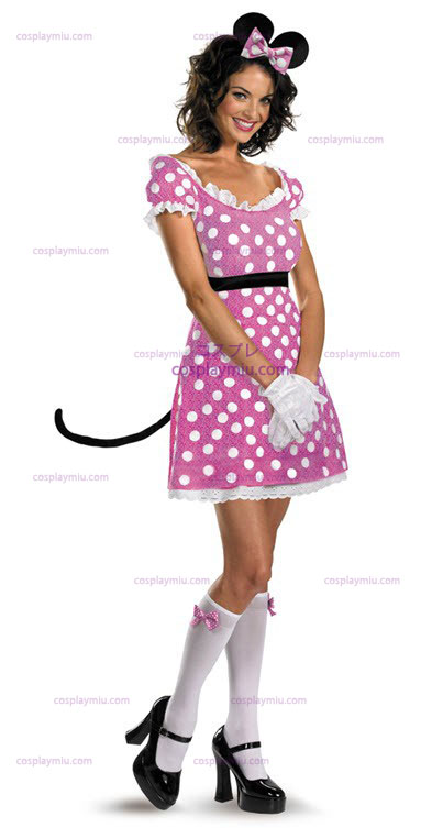 Disney Clubhouse Pink Minnie Mouse Adult Déguisements