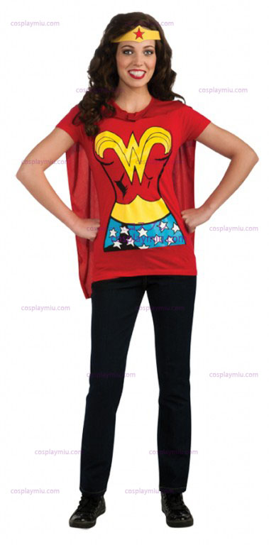 Wonder Woman Adult Shirt Déguisements