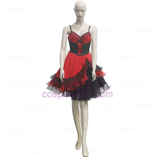 Red and Black Gallus Girl Déguisements Cosplay