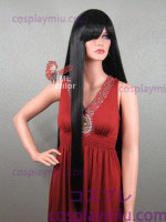 "36"" Straight Black Long Cosplay Wig"
