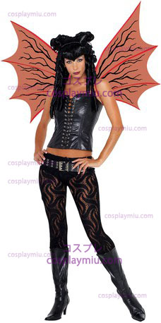Demonette Wings W/Veins Red