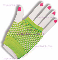 Gloves Fingerles Fishnet Green