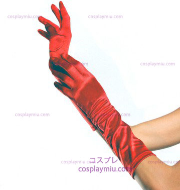 Gloves Elbow Length Red
