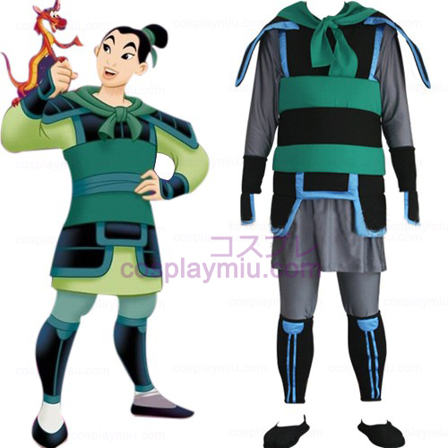 Kingdom Hearts 2 Mulan Hommes Déguisements Cosplay