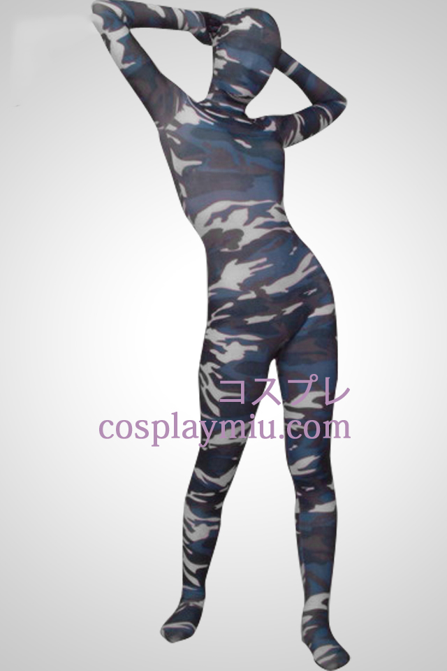 Couleur de camouflage Full Body Lycra Zentai Suit