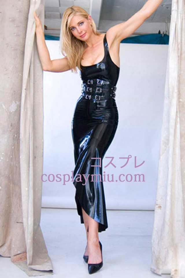 Noir Sexy Latex Robe