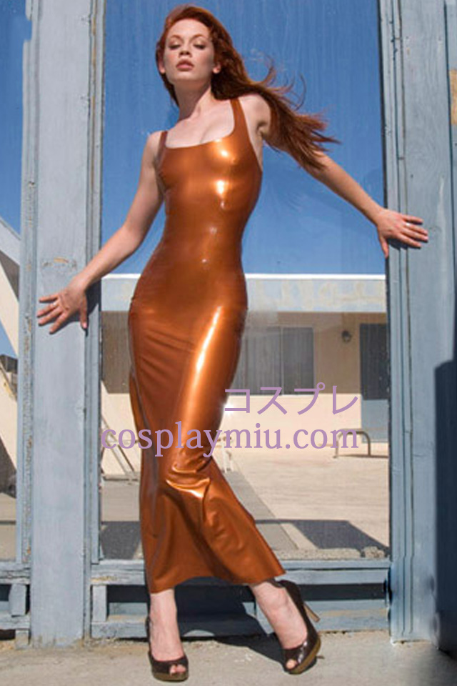 Encolure carrée manches Latex Robe