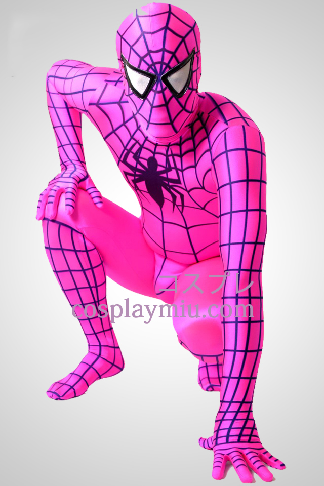 Plum Spandex Lycra Spiderman Zentai Suit