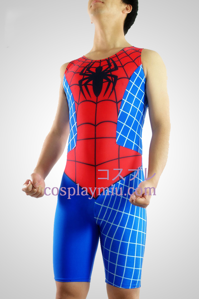 Spideman Lycra manches Gymnase Suit
