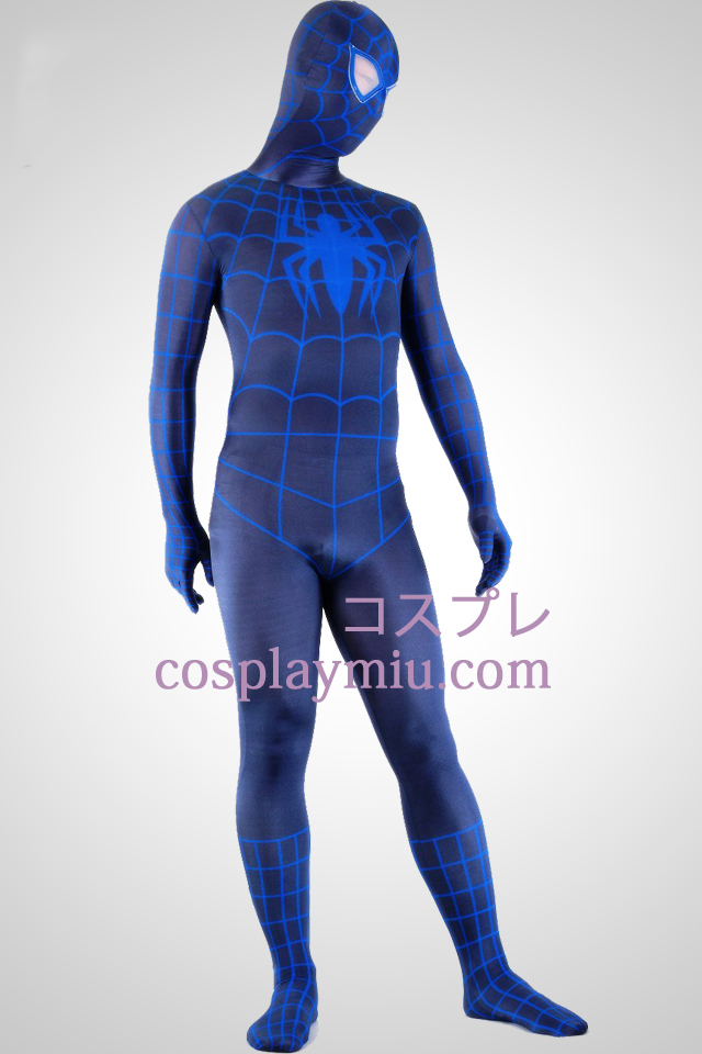 Black And Blue Spiderman super héros Zentai Suit