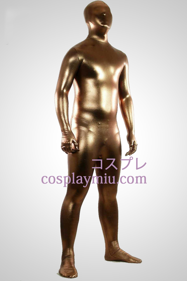 Café métallique brillant Zentai Suit