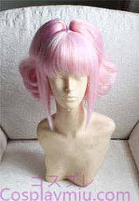 Code Geass Anya Alstreim rose perruque cosplay Curly